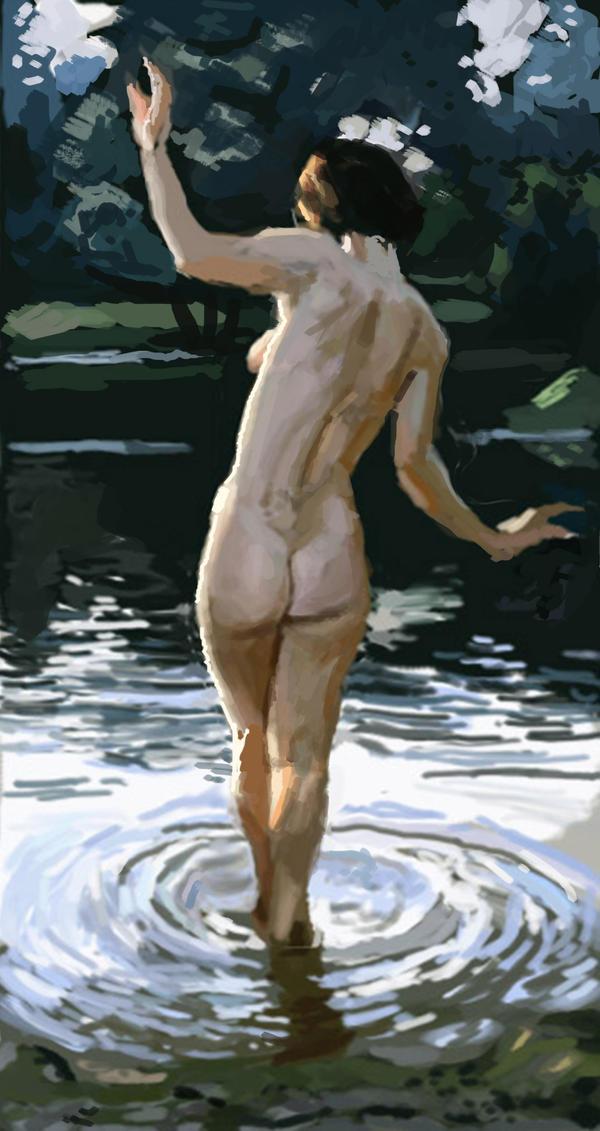 Girl in water by Fabianparente