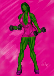 SHE-HULK by Luis3iguel