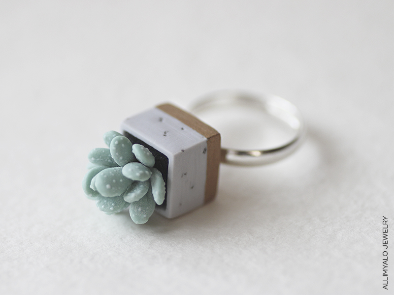 Ring with Succulent by AllimYalo