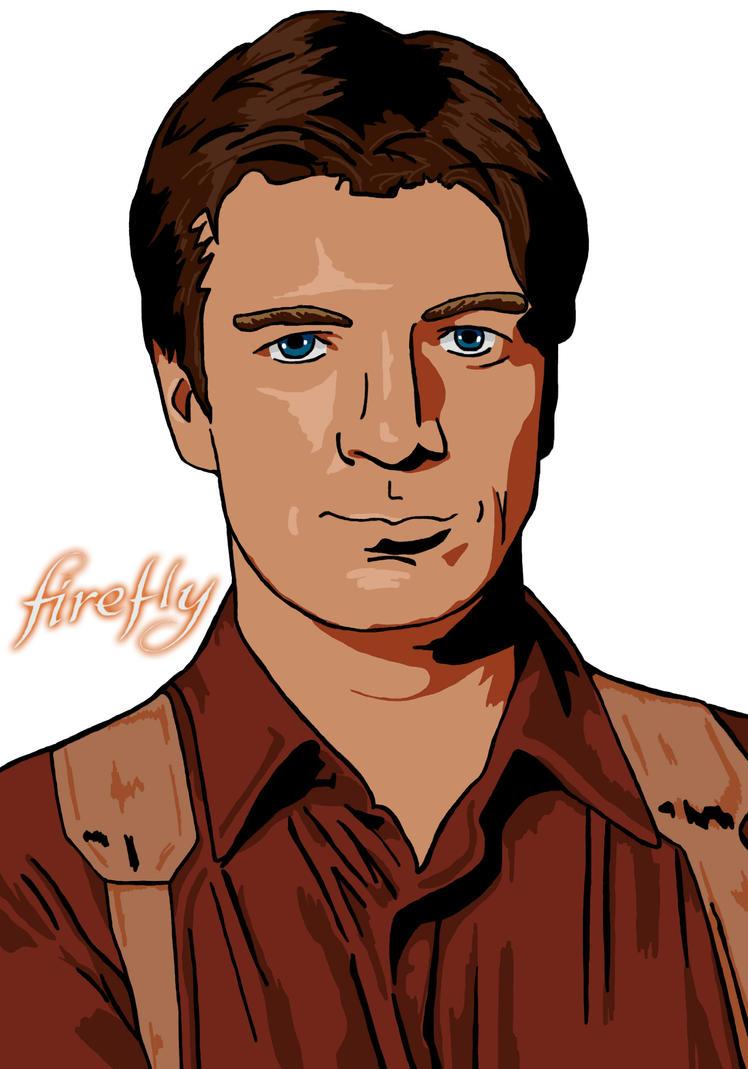 Nathan Fillion as Captain Mal by DreamBig20761