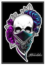Gangsta skull tattoo design by DaSava