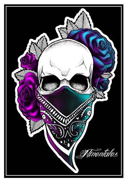 gangsta skull tattoo design by dasava on deviantart. Black Bedroom Furniture Sets. Home Design Ideas