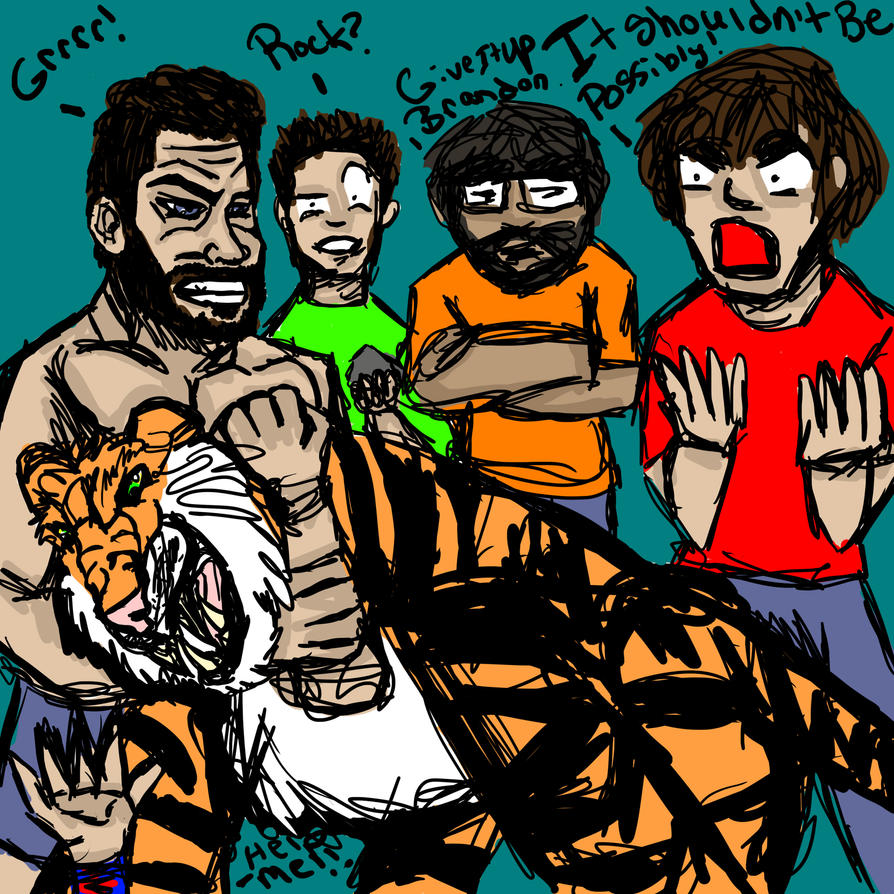 burnie_burns_vs_tiger_by_invisiblecorpse