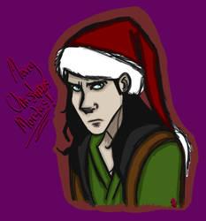 Xmas Loki by InvisibleCorpseGirl