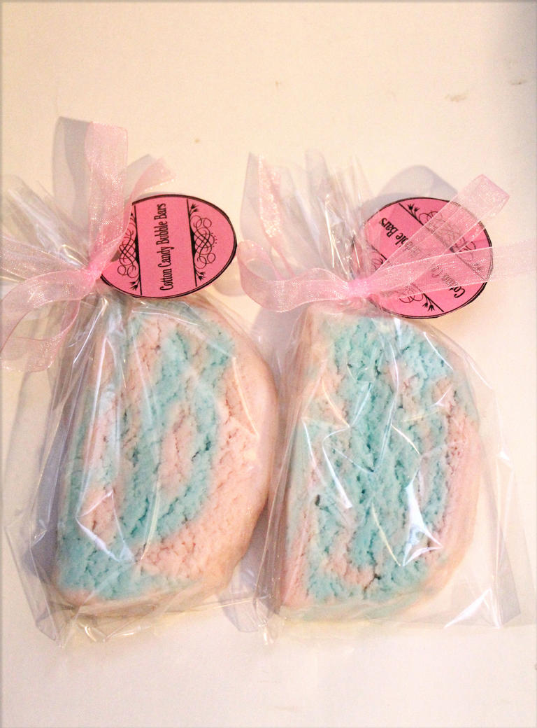 Larger cotton candy bubble bars by JupiterArt
