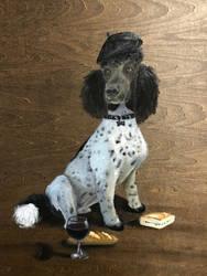 French Poodle Portrait