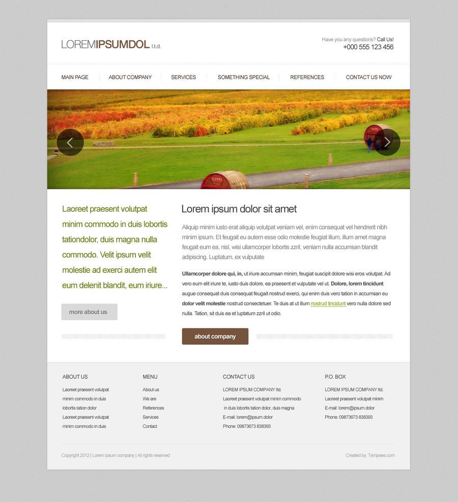 Simple Webdesign Template by tempeescom on DeviantArt
