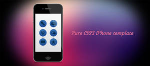 Pure CSS3 iPhone 4 by tempeescom