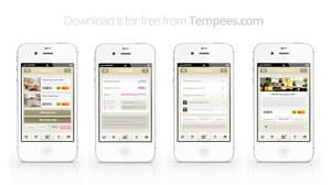 Free Mobile App UI kit by tempeescom