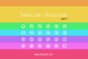 Circle icons part2 by tempeescom