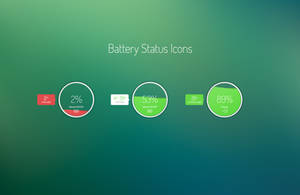 Battery Status free design PSD download by tempeescom