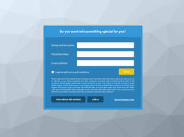 Blue Form for FREE DOWNLOAD PSD by tempeescom