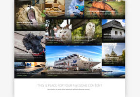 News with big pictures FREE PSD DOWNLOAD by tempeescom
