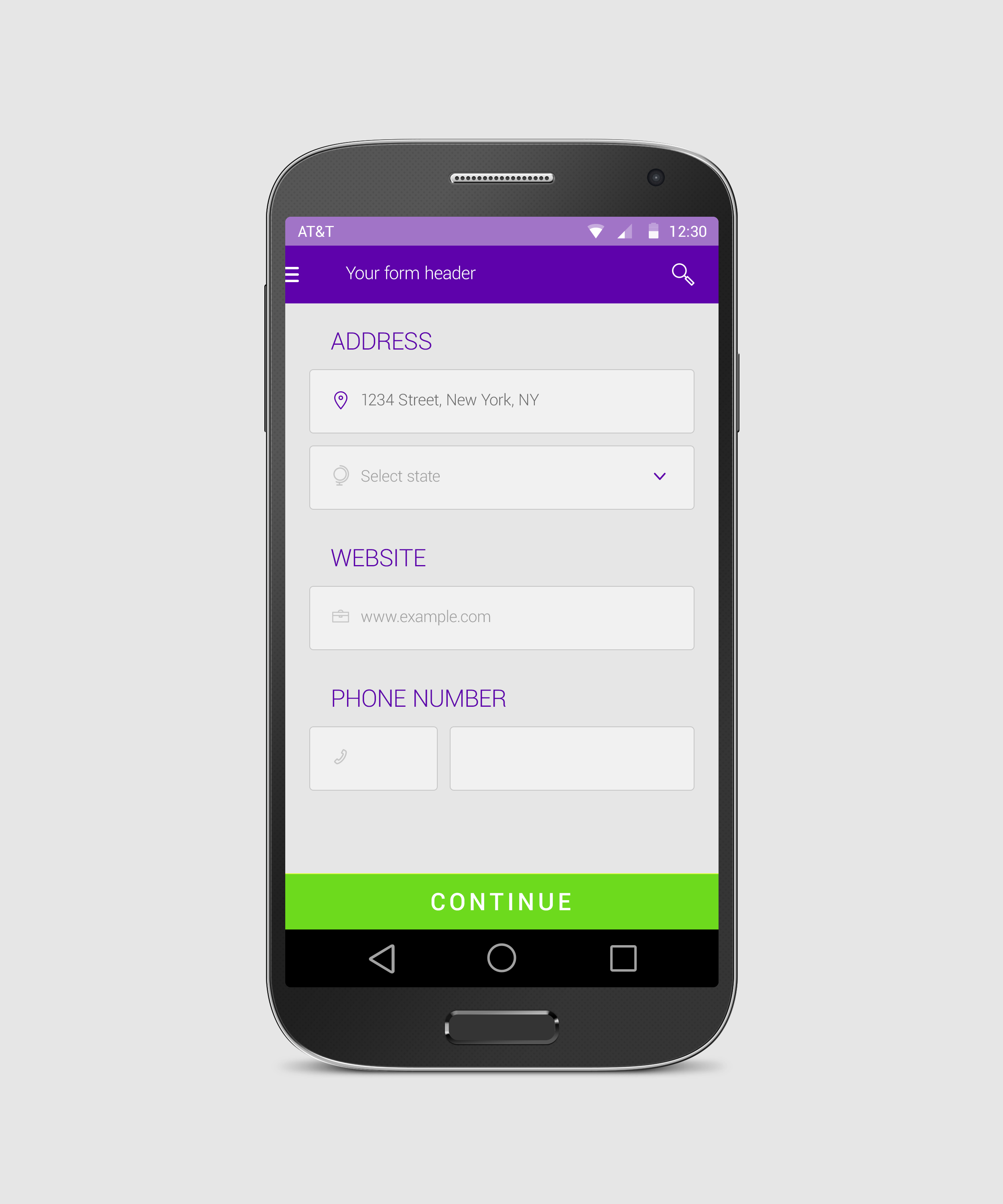 Android Form Free App Design By Tempeescom On Deviantart
