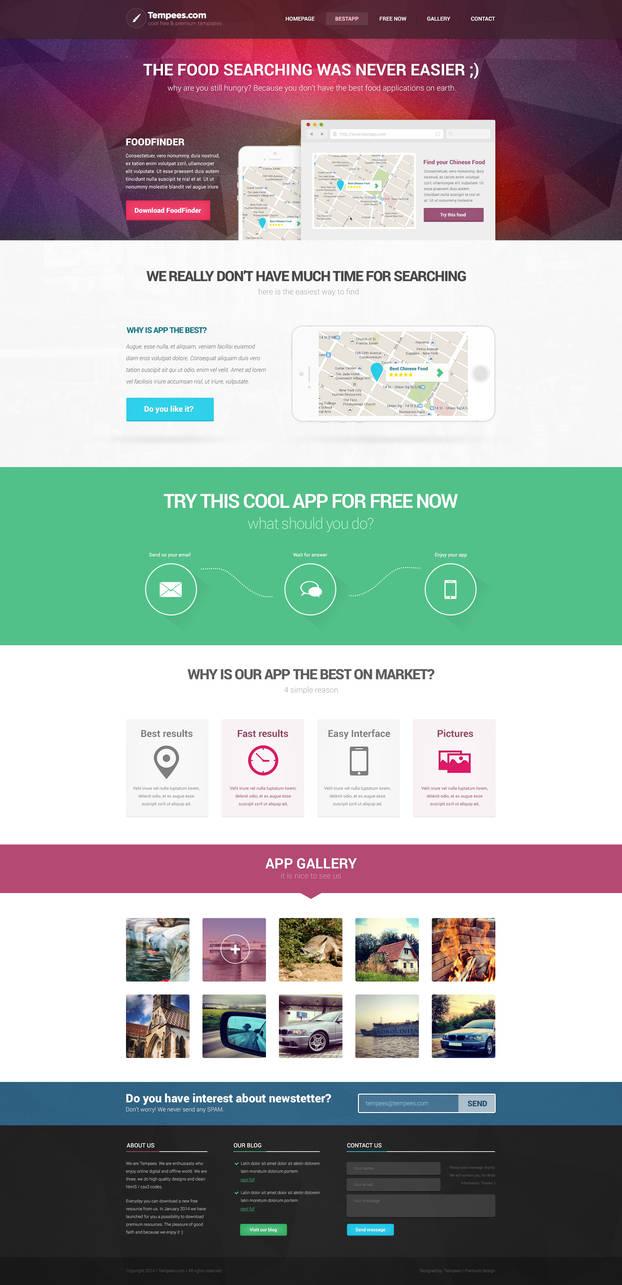 App Try Landindpage FREE PSD Template