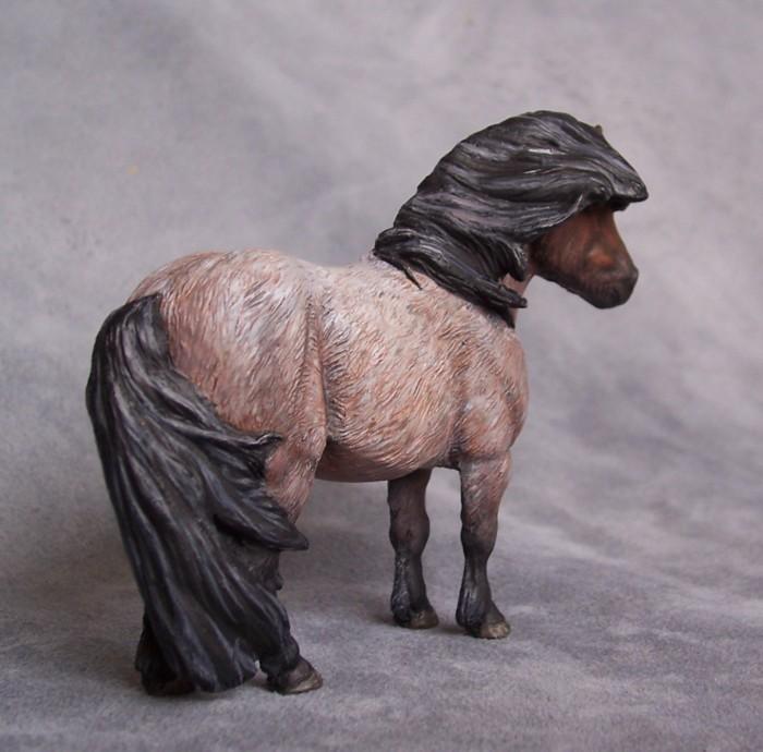 Roan Shetland pony by ymagier