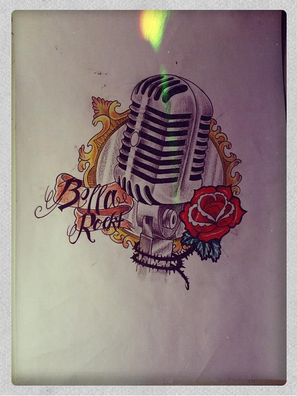 old microphone tattoo drawing by mibooo on deviantart. Black Bedroom Furniture Sets. Home Design Ideas