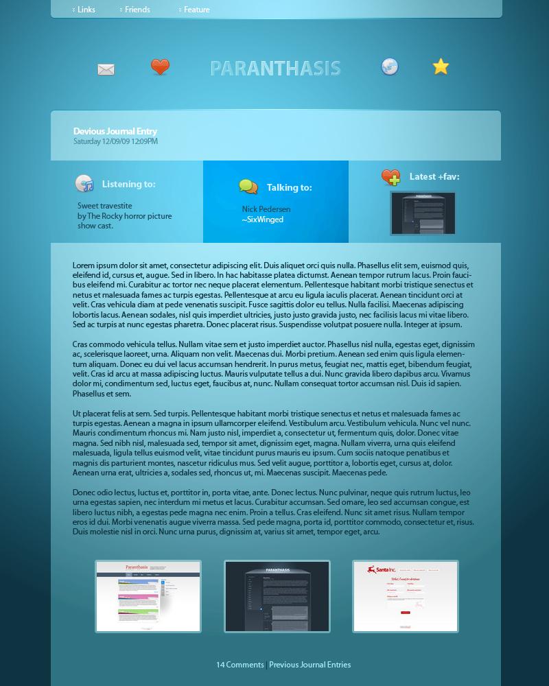 Paranthasis Journal CSS by paranthasis