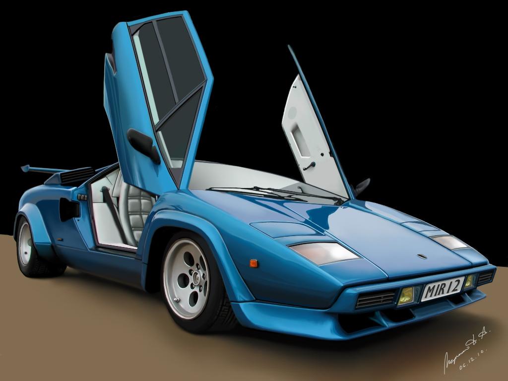 Lamborghini Countach By M A P C On Deviantart