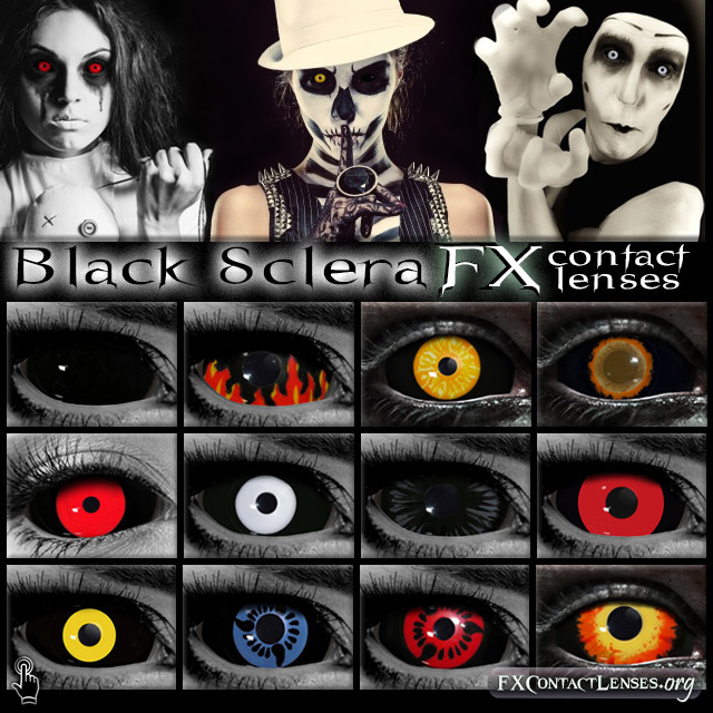 Black Sclera Halloween FX Contact Lenses by FXContactLenses on ...
