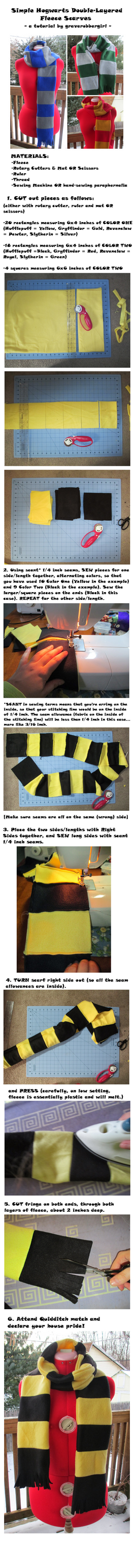 Hogwarts Fleece Scarf Tutorial by grg-costuming