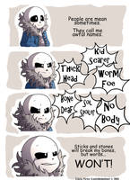 Undertale Comic - But words WON'T! by LonicHedgehog