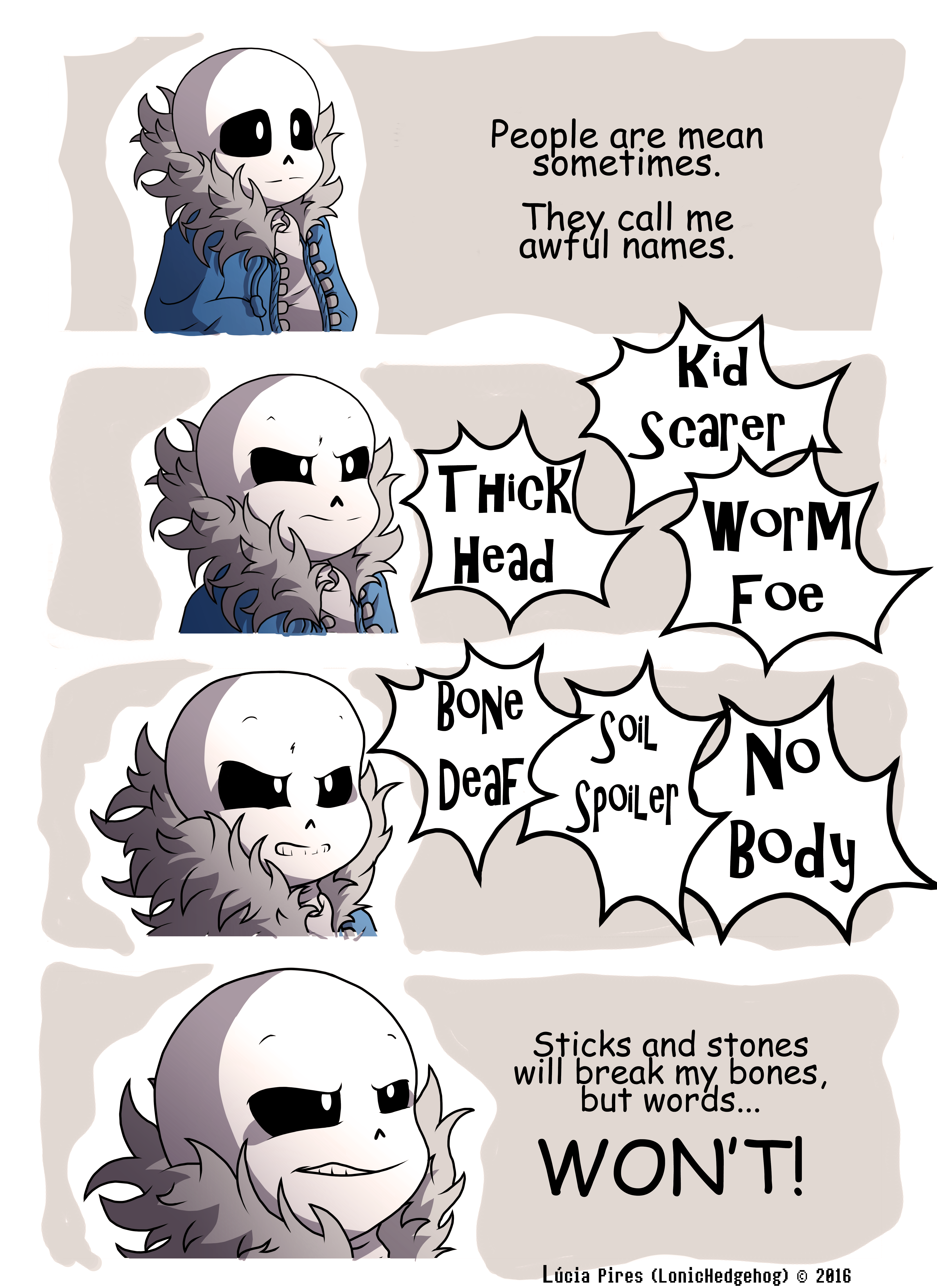 Undertale Comic - But words WON'T! by LonicHedgehog