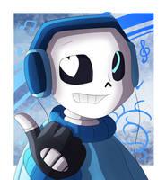 Art Trade - Vocal!Sans by LonicHedgehog