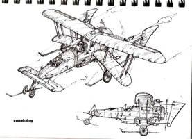 star wars steampunk x wing by amoebabloke