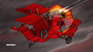 steampunk imperial fighter by amoebabloke