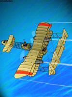 steampunk y wing coloured by amoebabloke