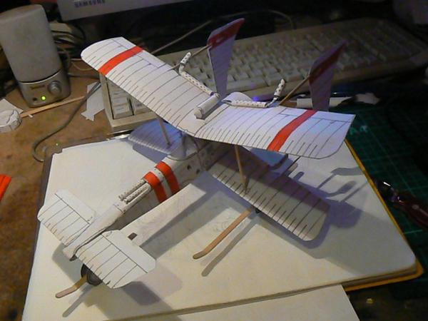 steampunk x wing papercraft by amoebabloke