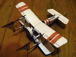 steampunk x wing papercraft 2 by amoebabloke