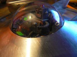 flying saucer x-2-cv by amoebabloke