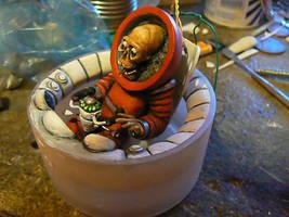 zombie space pilot by amoebabloke