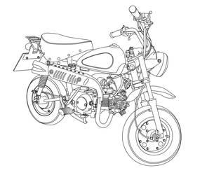 monkey bike by amoebabloke