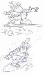 space monkey sketch by amoebabloke