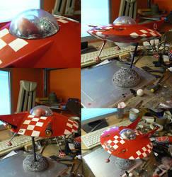 zombie hotrod flying saucer by amoebabloke