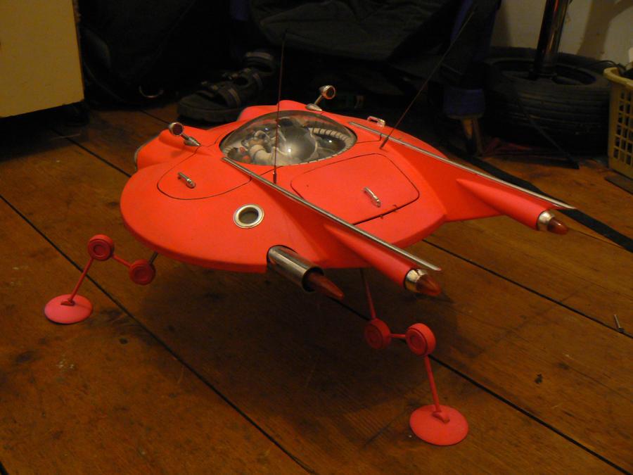 elvis in a flying saucer by amoebabloke