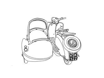 lambretta with bambini side 2 by amoebabloke