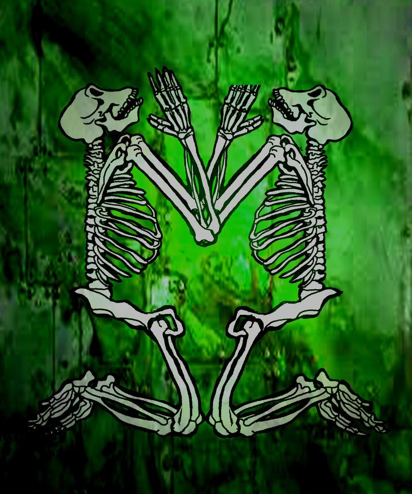 ape skeletons by amoebabloke