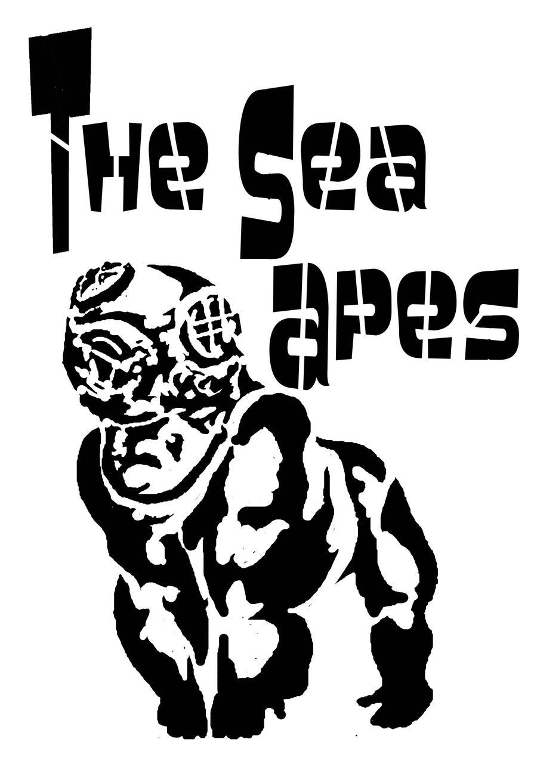 sea apes stencil by amoebabloke