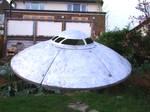 mahoosive aluminium flying  Saucer