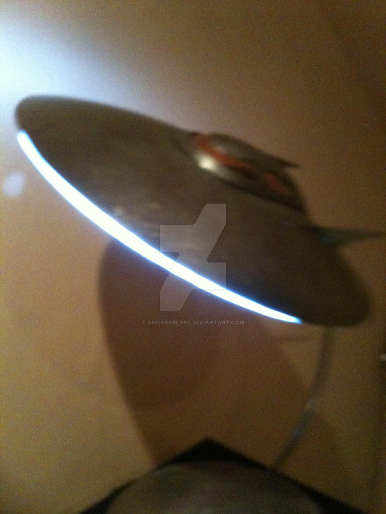 flying saucer lamp number two by amoebabloke