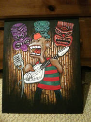 Voodoo Tiki lounge garage fez monkey