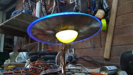 brass and copper saucer light test