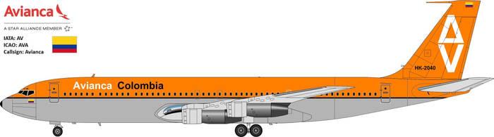 Avianca Colombia B707-320 by JetStream-61