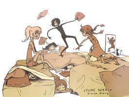 YN - Pillow Battle!!! by Mistexpi