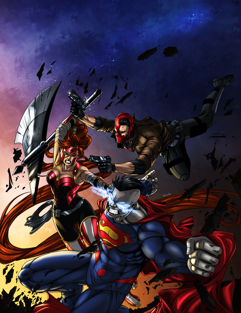 Jason Todd And Scarlet Red Hood and the Outla...