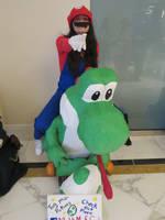 Mario and Yoshi- Taken at Katsucon 2018 by BrinyCosplay